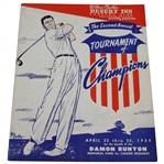 1954 Second Annual Tournament of Champions at Desert Inn CC Official Program