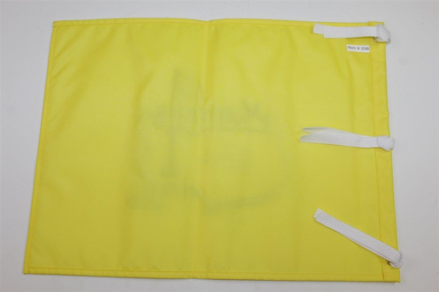 Jack Nicklaus Signed Masters Embroidered Undated Flag with Years Won Inscription JSA ALOA