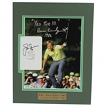 Jack Nicklaus Signed Masters Scorecard with Matted Verne Lundquist Signed Photo JSA ALOA