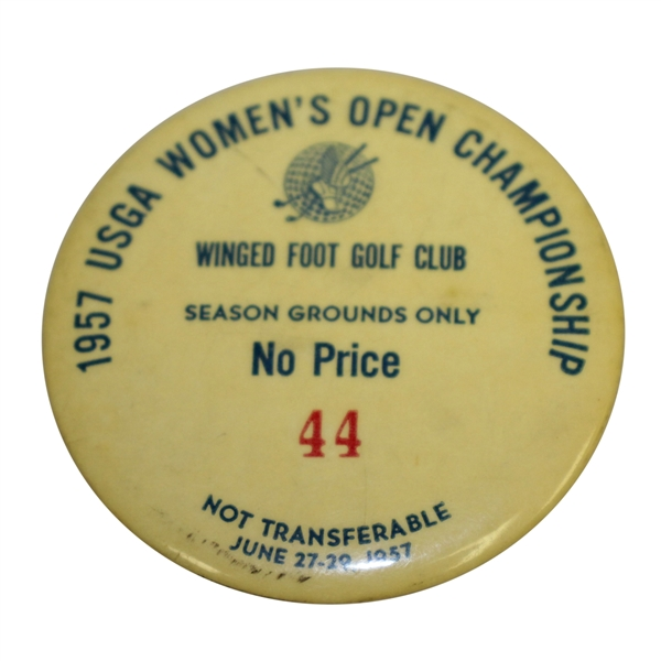 1957 Women's US Open Championship at Winged Foot GC Season Grounds Pass #44