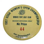 1957 Womens US Open Championship at Winged Foot GC Season Grounds Pass #44
