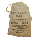 Classic The Perfect Balanced Tee Canvas Bag of Approx. 50 Golf Tees with Tees