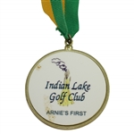 "Arnold Palmer Indian Lake Golf Club Park Dedication Medal with Ribbon - ""Arnies First"""
