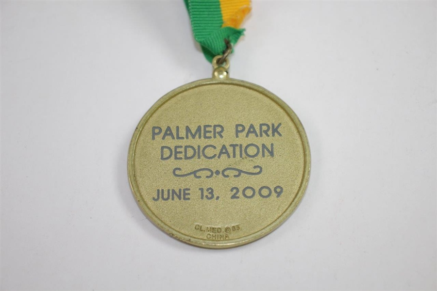 Arnold Palmer 'Indian Lake Golf Club' Park Dedication Medal with Ribbon - Arnie's First