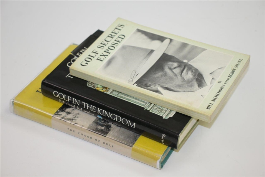 Three Golf Books: Knack of Golf, Golf in Kingdom, & Golf Secrets Exposed