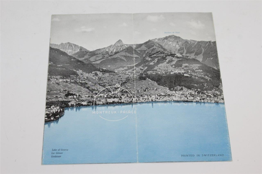 Vintage Switzerland Montreux Palace Booklet with Golf Themed Cover
