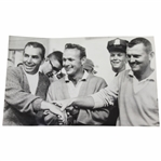 1963 US Open Playoff Arnold Palmer, Boros, & Cupit Wire Photo 6/23/1963