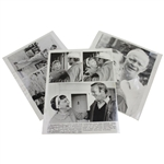 Two President Eisenhower Wire Photos with One Mamie with Arnie at Augusta Wire Photo