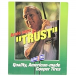 "Arnold Palmer Broadside Cooper Tires ""Arnie Says Trust"" 12"" x 15"" Advertisement"