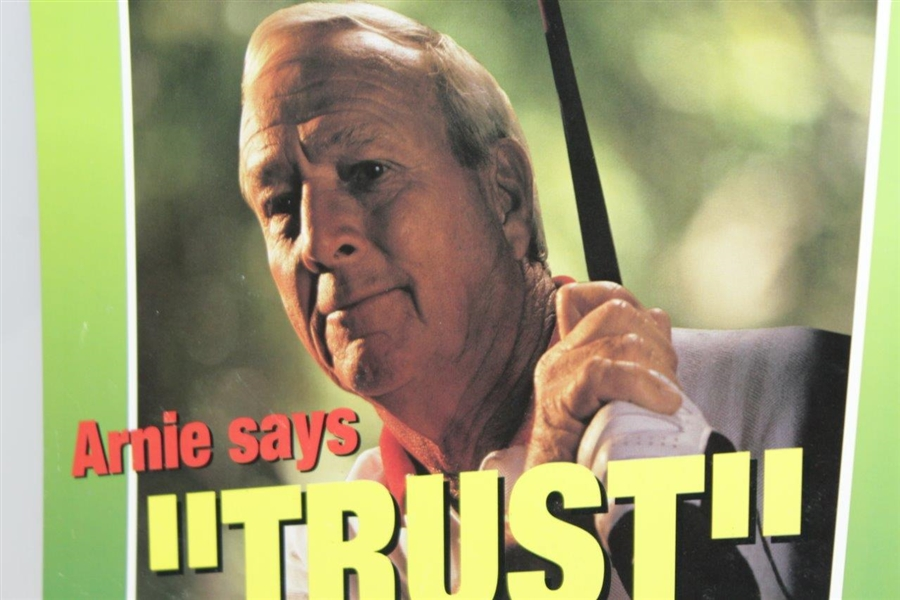 Arnold Palmer Broadside Cooper Tires Arnie Says Trust 12 x 15 Advertisement