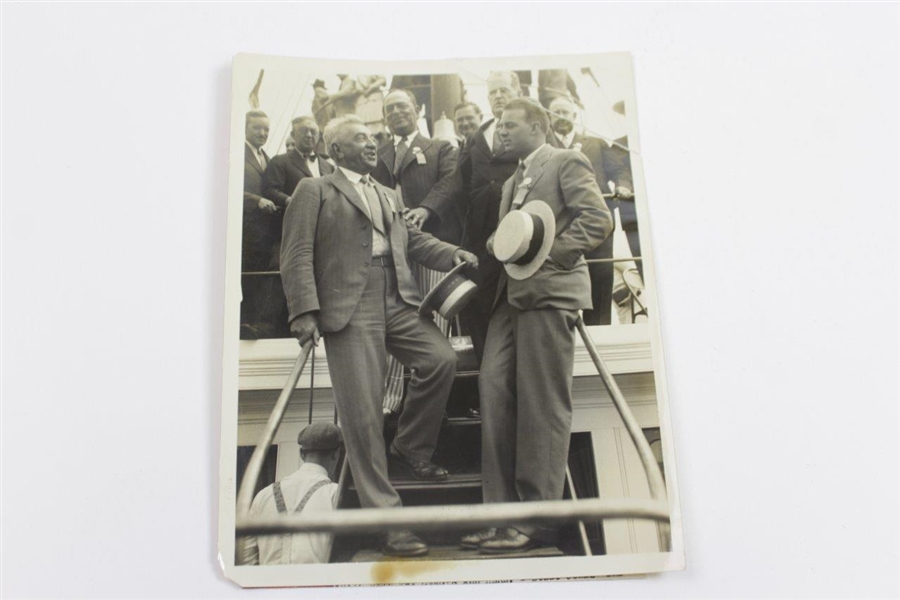 bobby Jones Awarded Gold Tee Wire Photo & Wire Photo of His Father Robert T. Jones, Sr.