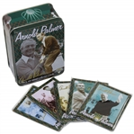 Five (5) Arnold Palmer All-Metal Collector Cards in Original Metallic Impressions Tin