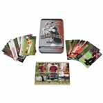 Tiger Woods Upper Deck Collectibles Card in Original Tin with Commemorative Grand Slam Card