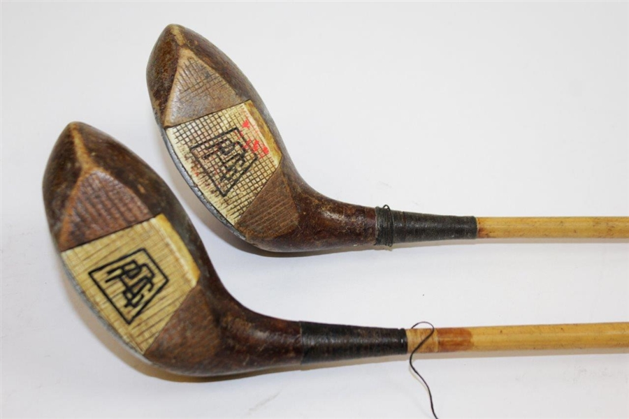 Two Classic Alex Chisholm PGA Logo Fancy Face Ivory Woods