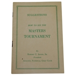 1949 Masters Tournament Spectator Guide - Scarce First Ever Issued - Sam Snead Win
