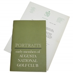 Warren Orlicks Portraits: Early Members of Augusta National Golf Club 1963 Booklet with ANGC Letter