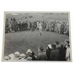 Horton Smith 1934 Masters Win Final Rd First Hole Tee Shot Original ACME Wire Photo 3/27/1934