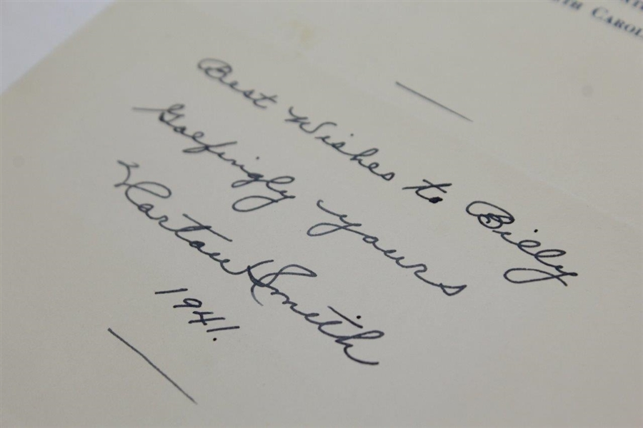 Horton Smith Signed & Dated 'Best Wishes' Note on Biltmore Forest CC Letterhead JSA ALOA