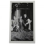 1952 Walter Hagen Photo with Jr. & III from his Autobiography From Estate with Plyer Letter