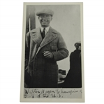 1920 Walter Hagen Photo OPEN Bound Onboard S.S. Mauretania From Estate with Plyer Letter