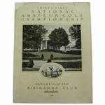 1927 US Amateur Championship at Minikahda Club Official Program - Bobby Jones Win!