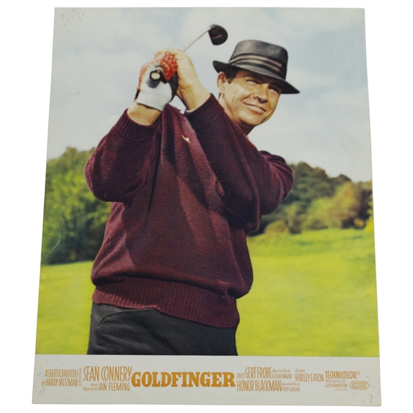 Sean Connery Post Swing 'Goldfinger' James Bond Lobby Card