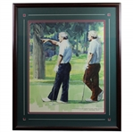 Original Arnold Palmer & Jack Nicklaus at Sahalee Painting by Jess Cauthorn - Framed
