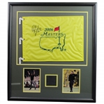 Phil Mickelson Signed 2006 Masters Embroidered flag - Framed with Photos JSA ALOA