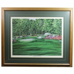 The Camellia Hole #10 The Augusta Collection Print by Nancy Raborn - Framed
