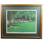 The Azalea Hole #13 The Augusta Collection Print by Nancy Raborn - Framed