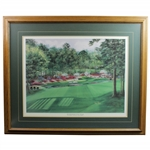The Golden Bell Hole #12 The Augusta Collection Print by Nancy Raborn - Framed