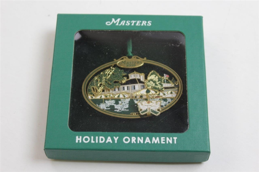 2020 Masters Tournament Clubhouse 3D Holiday Ornament in Original Box