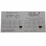 Tiger Woods Actual Match Used & Signed Final Rd 2006 HSC Champions Scorecard JSA ALOA