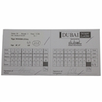 Tiger Woods Actual Match Used & Signed 3rd Rd 2007 Dubai Desert Classic Scorecard JSA ALOA