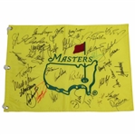 Masters CHAMPS Multi-Signed Undated Flag by 34 with Palmer & Nicklaus Center! JSA ALOA