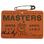 Charles Coody Signed 1971 Masters Tournament SERIES Badge #14920 JSA ALOA