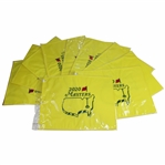Ten (10) Embroidered 2020 Masters Flags in Original Sleeves - Unopened