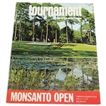 Historic 1974 Monsanto Open Program Signed by Champ Lee Elder - Earned Masters Invite JSA ALOA