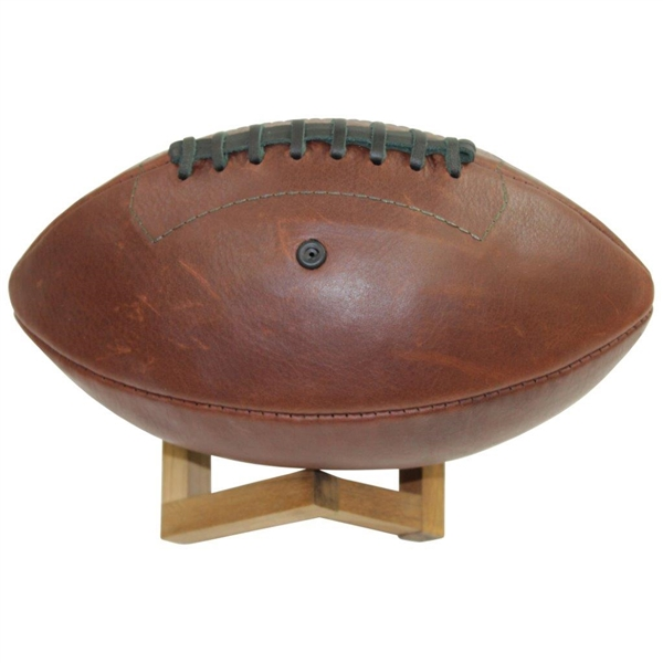 2020 Augusta National Masters Premium Leather Football by Links Kings w/ Wood Stand in Bag