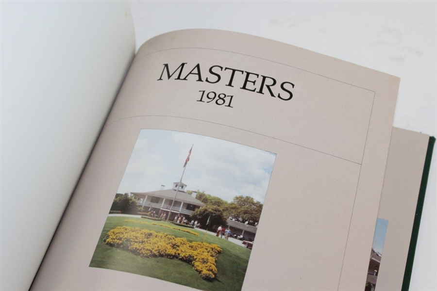 1978, 1979, & 1981 Masters Tournament Annual Book - Player, Zoeller, & Watson Winners