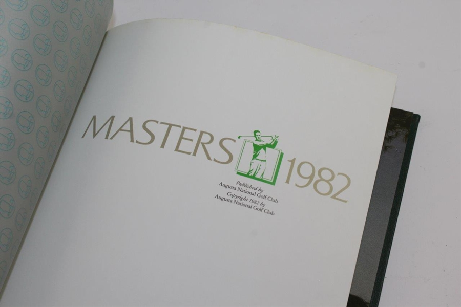 1982, 1983, & 1984 Masters Tournament Annual Books - Stadler, Ballesteros, & Crenshaw Winners