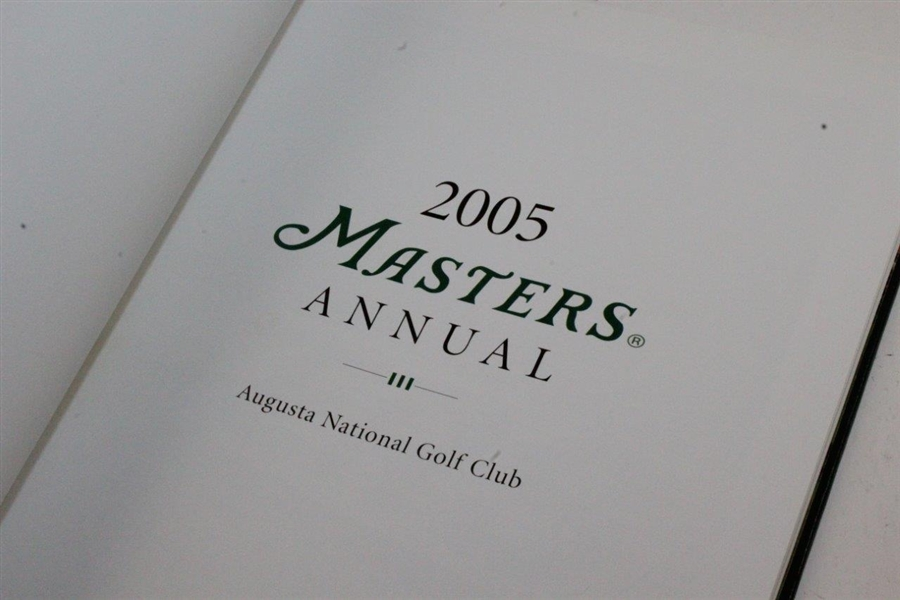 1997, 2001, 2002, & 2005 Masters Tournament Annual Books - Tiger Woods Victories!