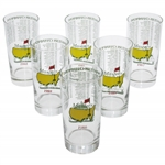 1984-1989 Masters Tournament Commemorative Glasses - 6 Total