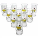 1990-1999 Masters Tournament Commemorative Glasses - 10 Total