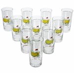 2000-2009 Masters Tournament Commemorative Glasses - 10 Total