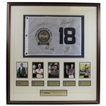 Rory McIlroy, Bubba Watson, Martin Kaymer, & Jim Furyk Signed Grand Slam of Golf Flag - Framed JSA ALOA