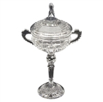 Deane Bemans Original 1987 Ryder Cup at Muirfield Village Crystal Trophy W/Figural Golfer