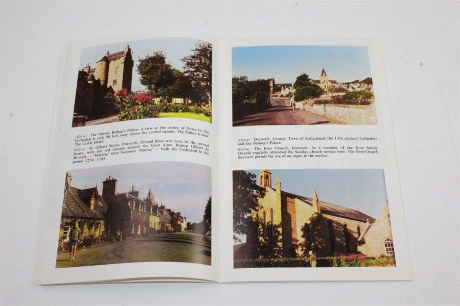 1973 'Donald Ross of Pinehurst and Royal Dornoch' Pamphlet Signed by Author Donald Grant, MA, FRGS.