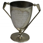1900 Womens Golf Championship of Philadelphia Silver Loving Cup Won by Agnes Richardson