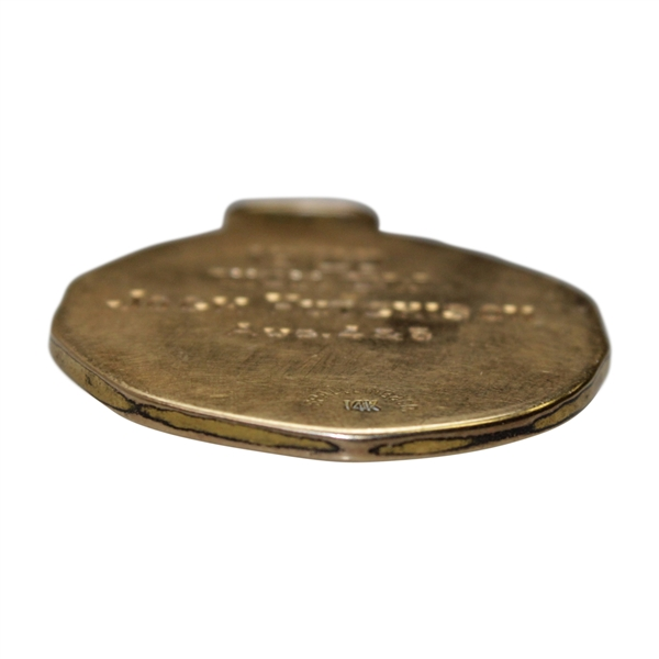 1920 Western Golf Association Open Championship Gold Medal Won by Jock Hutchison
